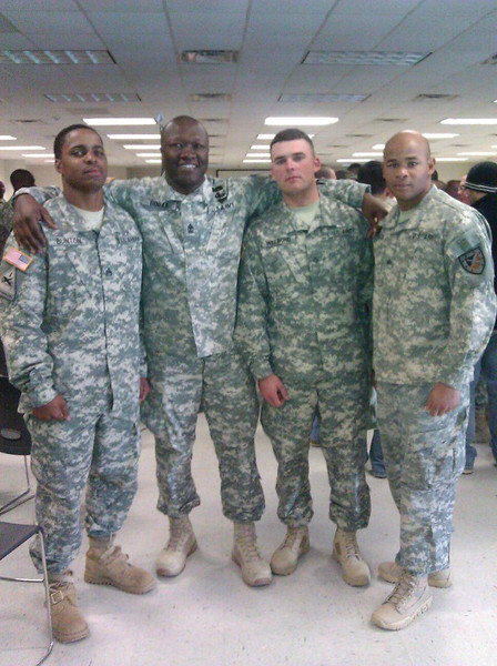 A Troop 1SG Dingle with Graduates of the Air Assault School, Warrior Training Center, Fort Benning, GA 13 January 2012