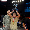 """03 OCT 2010 - Bout 10 Flyweight Champion Francisco """"Frankie"""" Mercado defeated Erik Cabal-Garibay on the third and final day of competition at the MACP All Army Championship Tournament, Smith Gym, Fort Benning, GA. Photo by John D. Helms - john.d.helms@us.army.mil"""