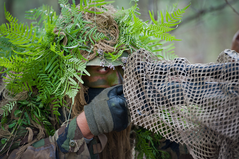 12 APR 2011 - US Army Sniper School, Stalking Practice Exercise, MCoE, Fort Benning, GA. Photo by Susanna Avery-Lynch. susanna.lynch@us.army.mil