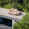 Crossing the bridge over Highway 80 / 520 / Corridor Z<br /> Photo by John D. Helms - john.d.helms@us.army.mil