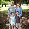 23 SEPT 2011 (FORT BENNING, GA) -  MG Brown's driver, SGT John Young enjoys the festivities with his wife, Amanda, and their children, Anthony and Ayanna, at the BRAC to the Future celebration on York Field. Photo by Kristian Ogden.