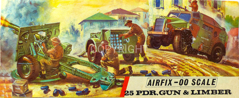 WW11 British Army 25 pounder anti tank gun