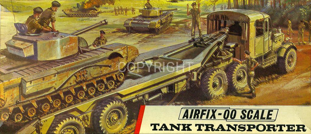 British army tank transporter.