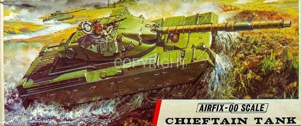 British army Chieftain main battle tank.