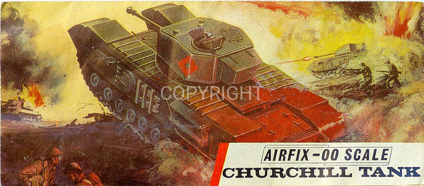 WW11 British Churchill tank.