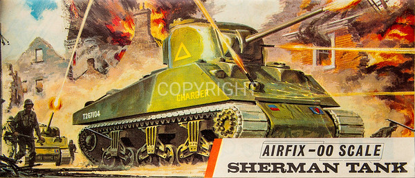 WW11 Allied Sherman tank.