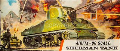 WW11 Allied Sherman tank.