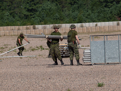 Building FOB Warbler, training area at CFB Petawawa.