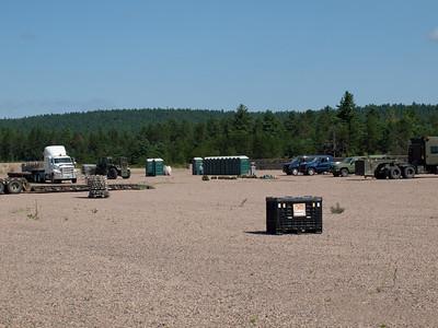 Building FOB Warbler, training area at CFB Petawawa.