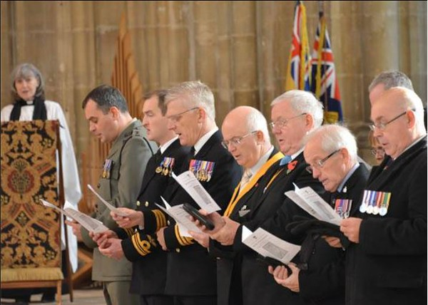 Officers and Former Officers of HMS Kent