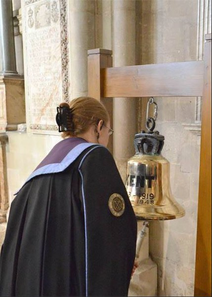 The Bell from HMS Kent, on loan from Rochester Cathedral