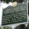 Historical marker located along Colchester Av at the cemetery entrance
