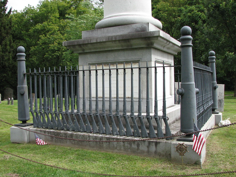 Base of the monument. Allen's specific grave location is not known, but is somewhere near this monument.