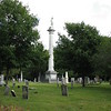 As you enter the cemetery from Colchester Av, look to your left to see the tall column