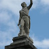 Closeup of the statue atop the column