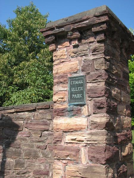 Entrance to Ethan Allen Memorial Park