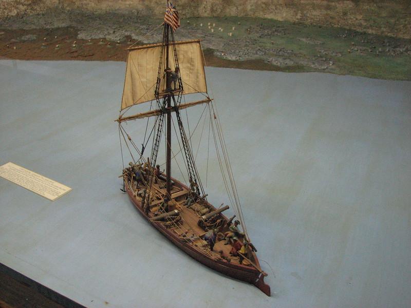 Gunboat in a diorama