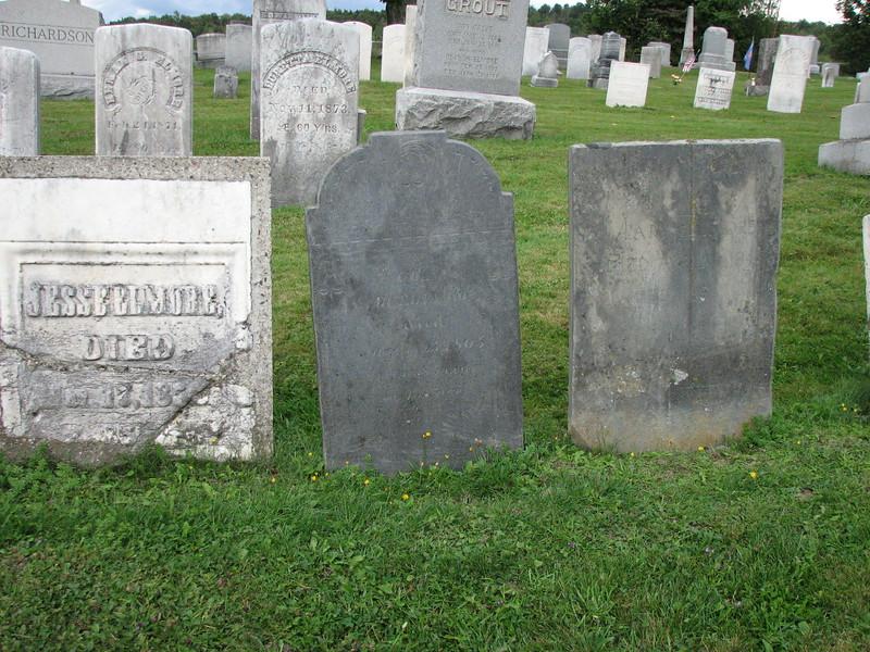 Elmore's gravestone is in the center