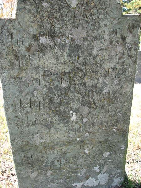 Inscription on Spooner's gravestone