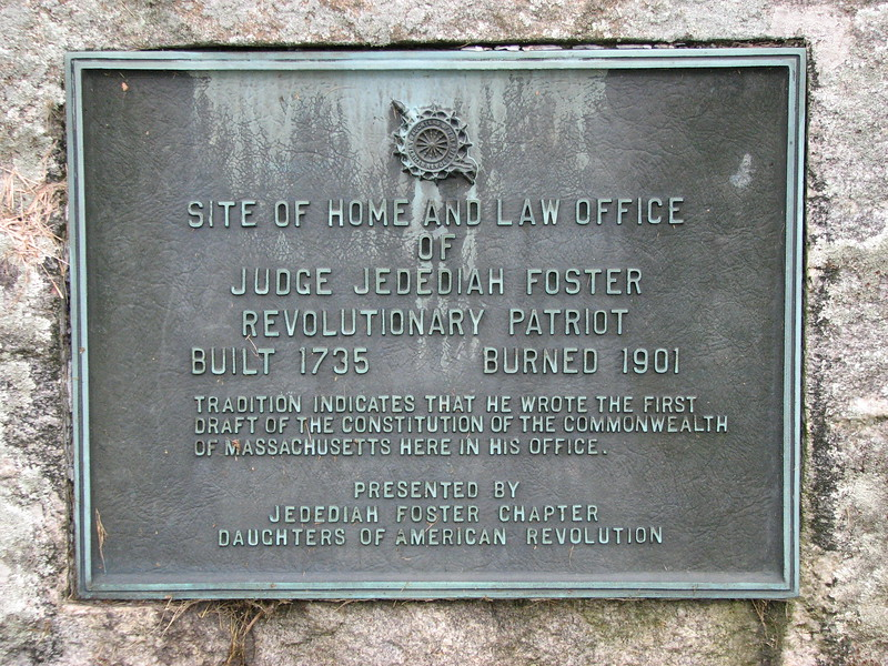 Plaque on the monument