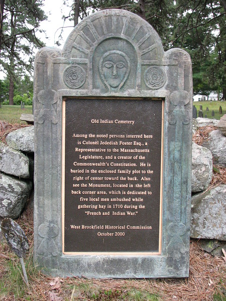 Plaque to the left of the entrance. Foster is mentioned.