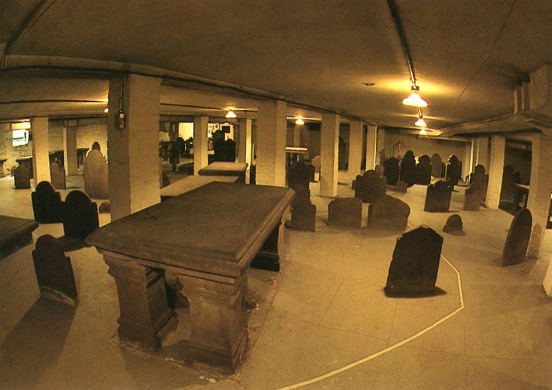 Postcard view of the crypt