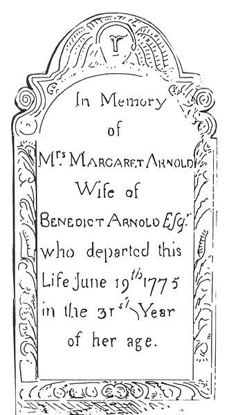 Drawing of the face of the gravestone