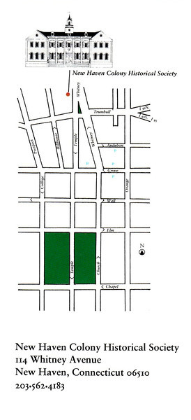 Map showing the location of the museum in relation to the Green
