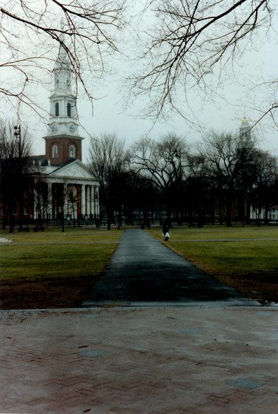 View of New Haven Green with Center Church in the background