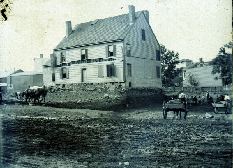 Historic photograph of Jane Tuers' home.