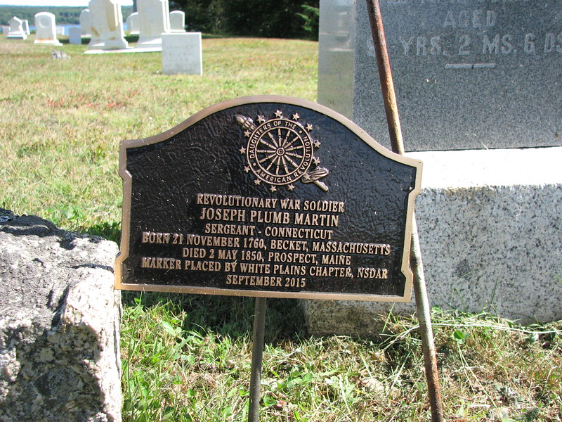DAR marker at the grave