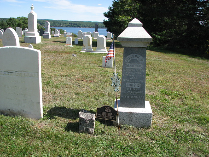The setting of Martin's grave