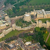 Aerial view of the castle, as seen on Wikipedia. St. George's Chapel is the large building at the left side of the complex.