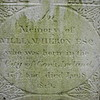 "Engraving on Heron's stone:<br /> ""In Memory of William Heron Esq. who was born in the City of Cork, Ireland 1742 and died Jan. 8, 1819."""