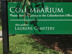 Signs on the Abbey grounds lead you to the Laurens Family Cemetery.