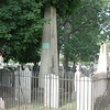 Varick's stone is the tall obelisk with the bronze plaque
