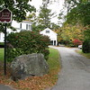 The cemetery entrance is located on Harrington Road at it's intersection with Massachusetts Avenue. The entrance road, seen here, is shared with two homes (1949 Massachusetts Av and 11 Harrington Rd.) It is best to park on the street and walk into the cemetery. An alternative would be to park in the rear parking lot of the First Parish Unitarian-Universalist Church, 7 Harrington Rd, from which there is another entrance.