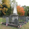 The Eustis grave. To locate it, walk into the cemetery to the end of the paved road. Then look ahead and to your right for this distinctive monument. It is the only one like it in the area.