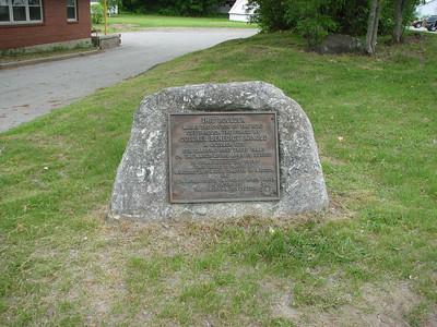 Norridgewock Falls and Portage Road Marker