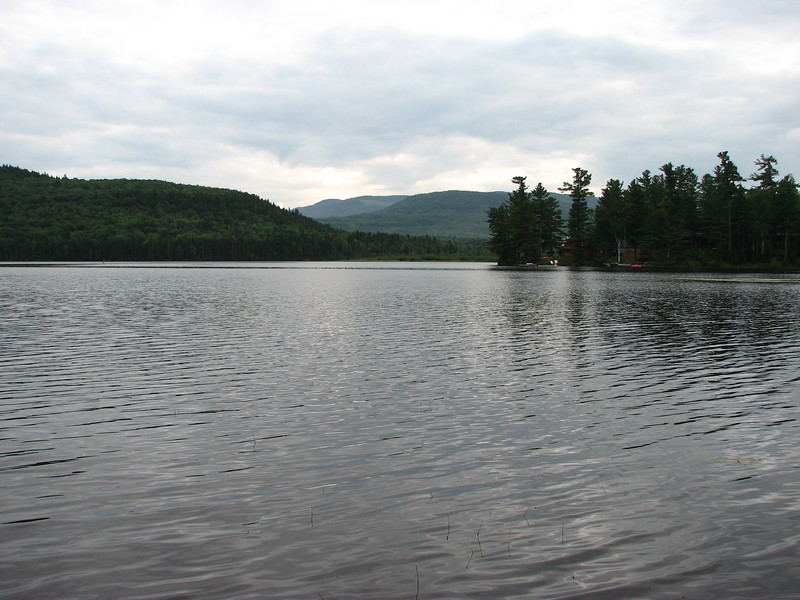 Looking northwest over Arnold Pond. The Expedition would have turned right (east) in the foreground here to follow the inlet to the pond toward the Height of Land.