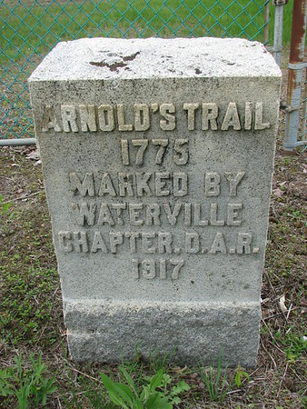 """Arnold's Trail"" Marker in Fairfield"