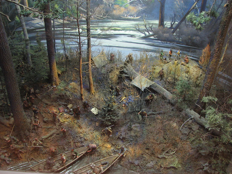 Diorama of Camp Disaster, permanently on display at the Brick Store Museum, 117 Main St, Kennebunk, ME. This is my photo of the diorama, which is used with the gracious permission of the Brick Store Museum.