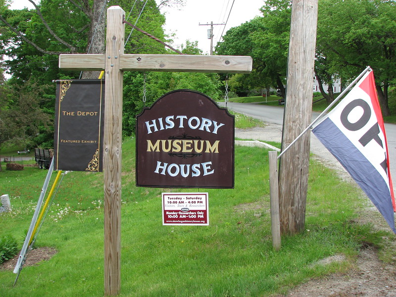Sign in front of the house