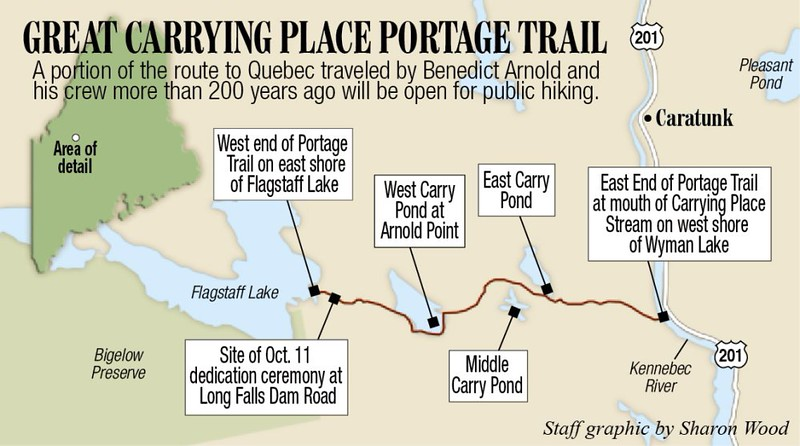 """Map seen in the news article about the opening of the trail:  <a href=""""http://www.centralmaine.com/2014/10/04/somerset-county-section-of-arnolds-trail-opens/"""">http://www.centralmaine.com/2014/10/04/somerset-county-section-of-arnolds-trail-opens/</a>"""