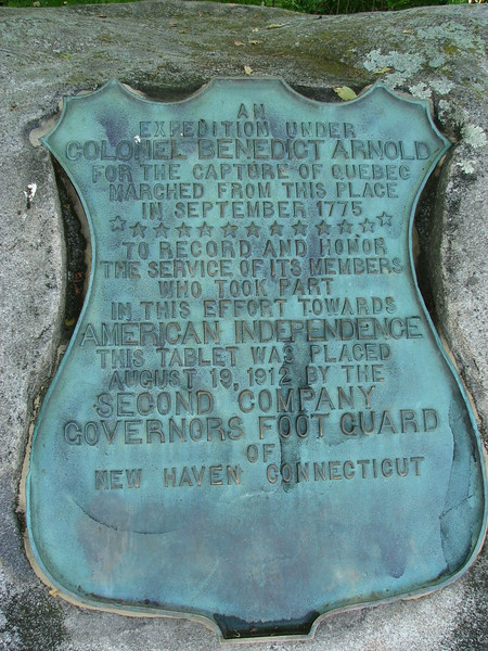 Plaque on the boulder