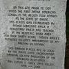 Inscription on the marker