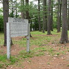 Setting of the sign in Historic Pines Trail Park