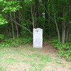 Nearby marker about the school he founded. This located in the same clearing as the main monument.