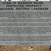 This large granite sign mentions the passage of Arnold's Expedition, in the