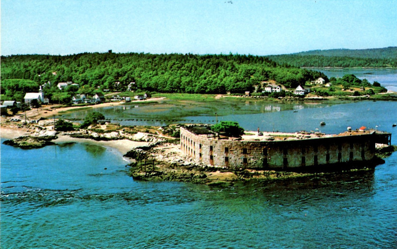 A postcard view of the fort